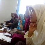 SEIRUS: Peserta Pelatihan Kesehatan Ma'had Sunan Ampel al Ali menyimak penjelasan pemateri di Gedung Halaqoh UIN Maliki Malang (25/11)